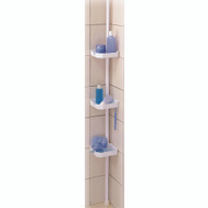 HomeBasix TS38-PDC Telescope Shower Caddy With 3 Tier