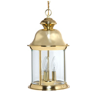 Boston Harbor BRT-8703-PB 3 Light Outdoor Indoor Pendant Lantern Polished Brass