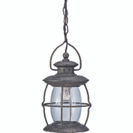 Boston Harbor BRT-CDC1701 1 Light Rust Outdoor Pendant Lantern Misty Pewter