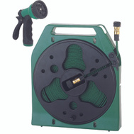 Landscapers Select YP1121 50 Foot Flat Hose Reel Includes Nozzle