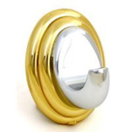 Mintcraft L8154-26B-10 Sorrento Polished Brass And Chrome Single Robe Hook