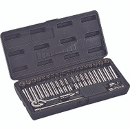 Vulcan TS-402-1/4SA/ME Socket Wrench Sets 40 Piece Fractional And Metric 1/4 Drive 6 Point