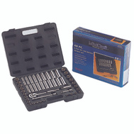 Vulcan TS-473-3/8SA/ME Socket Wrench Sets 48 Piece Fractional And Metric 3/8 Drive 6 Point