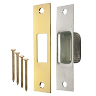 ProSource HSH-001 Mintcraft Brass Finish Security Box Strike Reinforcer 1-1/4 Inch By 4-7/8 Inch