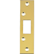 ProSource HSH-003 Mintcraft 1-1/4 By 4-7/8 Inch Security Edge Strike Plate Polished Brass