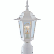 Boston Harbor AL8044-WH One Light White Post Lantern Med