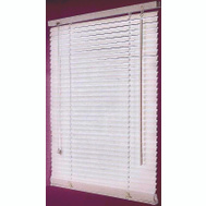HomeBasix FWB-31X64 31 Inch Wx64 Inch H Faux Wood Blinds Wht