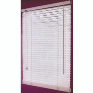 HomeBasix FWB-43X64 43 Inch Wx64 Inch H Faux Wood Blinds Wht