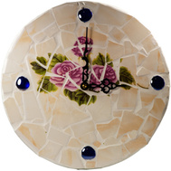 ProSource M57003 Mintcraft 12 Inch Rose Mosaic Clock