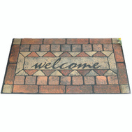 HomeBasix 06ABSHE-16 Rubber Floor Mat Welcome 18 Inch By 30 Inch