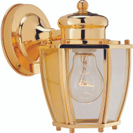 Boston Harbor HV-66961-PB Polished Brass 1 Light Wall Lantern