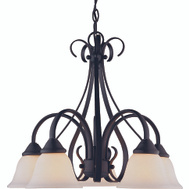 Boston Harbor F3-5C Five Light Matte Black Chandelier
