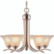 Boston Harbor 1571-5C Fixture Chandelier 5Lt Brshnic