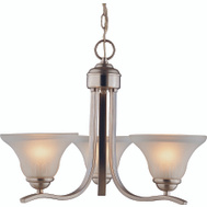 Boston Harbor 1571-3C 3 Light Brush Nickel Chandelier