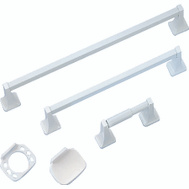 Boston Harbor PBC001-WH Manhattan Bath Hardware Set 5 Piece White