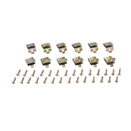 ProSource 25210ZKH Mintcraft Pilaster Shelf Clips And Mounting Screws Gold 12 Pack