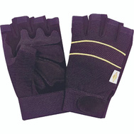 DiamondBack BLT-0508-4-L High Dexterity Fingerless Working Gloves With Leather Palms Size Large