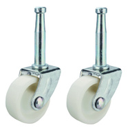ProSource JC-B24 Mintcraft 2 Inch Light Duty White Stem Swivel Caster Zinc Pack Of 2