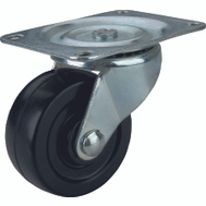 ProSource JC-H08 4 Inch Rubber Wheel Plate Caster