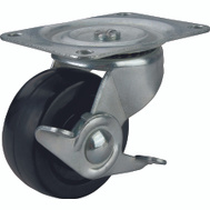 ProSource JC-H09 2 Inch Rubber Wheel Plate Caster With Brake