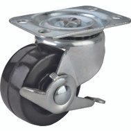 ProSource JC-H10 2-1/2 Inch Rubber Wheel Plate Caster With Brake