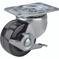 ProSource JC-H11 3 Inch Rubber Wheel Plate Caster With Brake