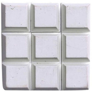ProSource FE-S403 Mintcraft Self Adhesive Square Rubber Bumper Pads 1/2 Inch White 9 Pack