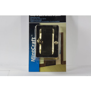 ProSource PDS25-61PB Mintcraft Passage Notched Pocket Door Pull 2-1/4 By 3-1/4 By 1-3/8 Inch Polished Brass