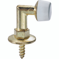 ProSource 20799PHS3L Mintcraft Floor Mount Door Stop Bright Brass Die Cast