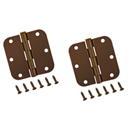 ProSource BH-102VB3L Mintcraft 3-1/2 Inch 5/8 Radius Venetian Bronze Door Hinges Pack Of 2