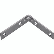 ProSource CB-Z04-013L Corner Brace 4 By 7/8 Inch Zinc Plated Steel Bulk