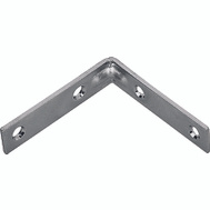 ProSource CB-Z015-013L Corner Brace 1-1/2 By 1/2 Inch Zinc Plated Steel Bulk