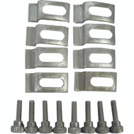 ProSource BHA-0043L Mintcraft Aluminum Screen Storm Door Clips With Screws Pack Of 8