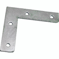ProSource FC-Z03-01 Flat Corner Brace 3 By 1/2 Inch Zinc Plated Steel Bulk