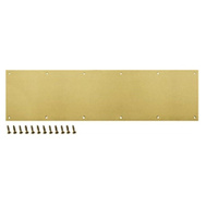 ProSource AL-KP834-BB3L Mintcraft 8 By 34 Inch Anodized Aluminum Kick Plate Bright Brass Finish