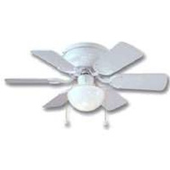 Boston Harbor CF-78108 Fan Ceil Hugr 30In6bld/1Lt Wht