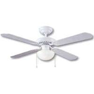 Boston Harbor CF-78133 Fan Ceil 42In4bld/1Lt Dnrd Wht