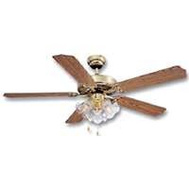 Boston Harbor CF-78021L 52 Inch Polished Brass Dual Mount Ceiling Fan With 3 Clear Glasses