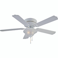 Boston Harbor CF-B-652+1F242WH Fan Ceil Hugr 52In5bld/2Lt Wht