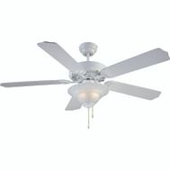 Boston Harbor CF-B-552+1F242WH Fan Ceil 52In 5Bld/2Lt E12 Wht