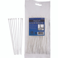 ProSource CV165-1003L Cable Ties 6-1/2 Inch 18 Pound Clear 100 Piece