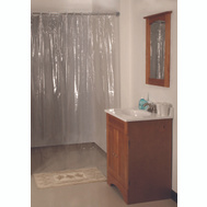 HomeBasix SD-MCP01-C3L Shower Curtain Vinyl Clr 70X72