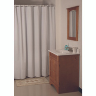 HomeBasix SD-MCP01-W3L Heavy Duty White Vinyl Shower Curtain 70 By 72