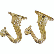 Landscapers Select GB0413L Hooks Plsh Brass Ceiling 2Pk 2 Pack