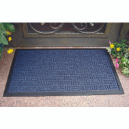 HomeBasix 06ABSHE-11-3L Mat Door Rubber Blue 18X30in