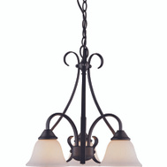 Boston Harbor F3-3C3L Fixture Chandelier 3Lt Mat Blk
