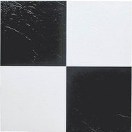 ProSource ELE-1305-3L Vinyl Floor Tile Black/White (Carton Of 45)