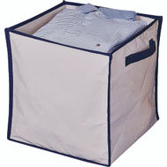 HomeBasix M167CNW-3L Non-Woven Folding Storage Bin 16Inches By 12 Inches By 6 Inches Purple And Fuchsia