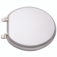 ProSource T-17WM-3L Toilet Seat Round Wood White