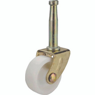 Mintcraft JC-B25-3L 2 Inch Light Duty White Stem Swivel Caster Brass Pack Of 2